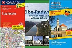 Radwanderführer und Radkarten für Sachsen